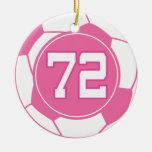 Regalo del número 72 del jugador de fútbol de los  ornamentos de reyes