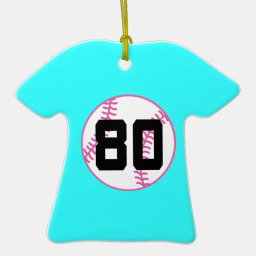 Regalo del número 80 del uniforme del jugador de adorno de cerámica en forma de playera