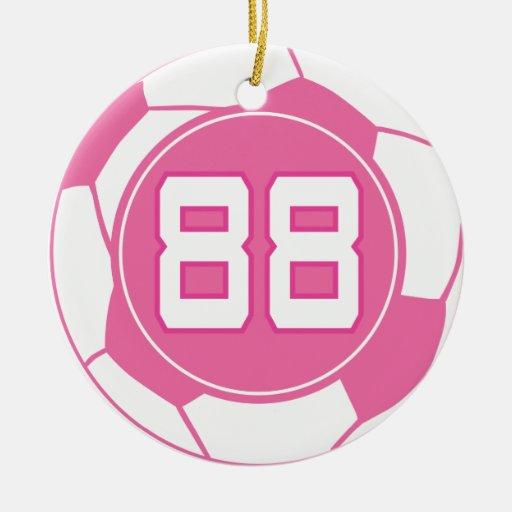 Regalo del número 88 del jugador de fútbol de los adorno redondo de cerámica