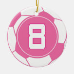 Regalo del número 8 del jugador de fútbol de los c ornamentos de reyes