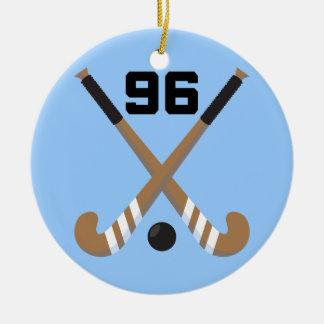 Regalo del número 96 del uniforme del jugador de adorno redondo de cerámica