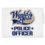 Regalo del oficial de policía tarjetón
