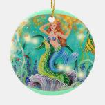 Regalo del ornamento del navidad de la sirena y de ornamento para arbol de navidad