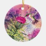 Regalo del ornamento del navidad del colibrí ornamentos de reyes magos