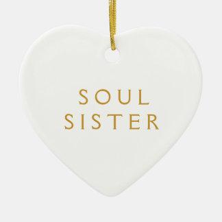 Regalo del ornamento para la hermana del alma adorno para reyes