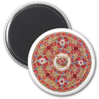 Regalo del oro imán redondo 5 cm