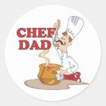 Regalo del padre del papá del cocinero etiquetas redondas