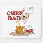 Regalo del padre del papá del cocinero tapetes de ratones