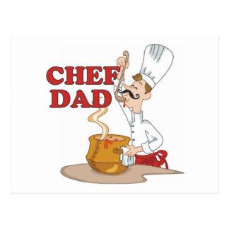 Regalo del padre del papá del cocinero postal