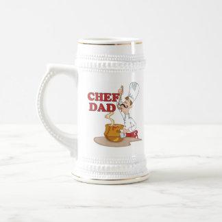 Regalo del padre del papá del cocinero tazas
