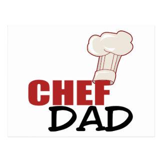 Regalo del papá del cocinero postal