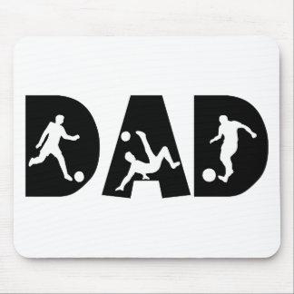 Regalo del papá del fútbol alfombrilla de ratón