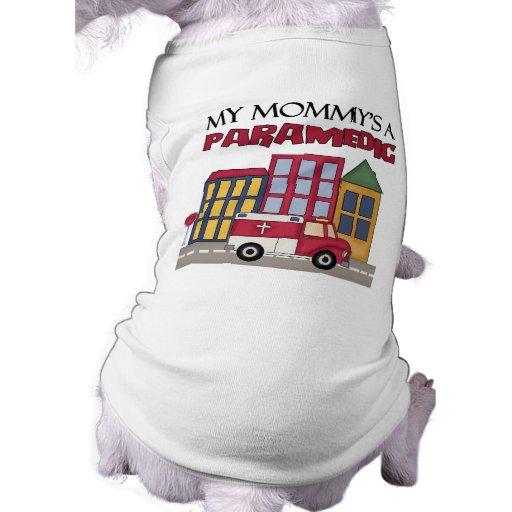 Regalo del paramédico camisetas de perro