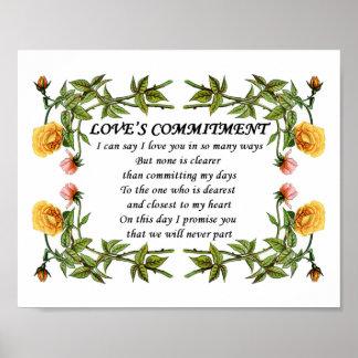 Regalo del poema del amor del aniversario de Commi Impresiones