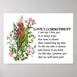 Regalo del poema del amor del aniversario de LoveC Posters