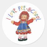 Regalo del preescolar etiqueta redonda