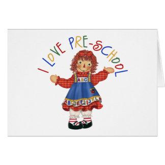 Regalo del preescolar tarjeta de felicitación