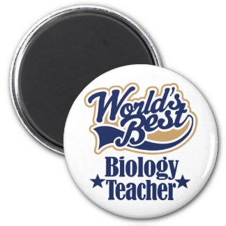 Regalo del profesor de biología para (mundos mejor imán redondo 5 cm
