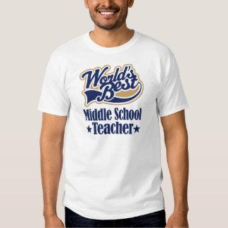 Regalo del profesor de escuela secundaria camisas