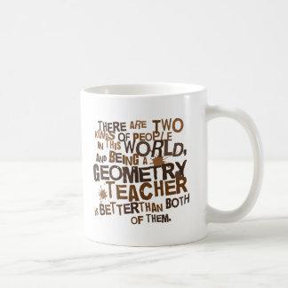 Regalo del profesor de geometría taza de café