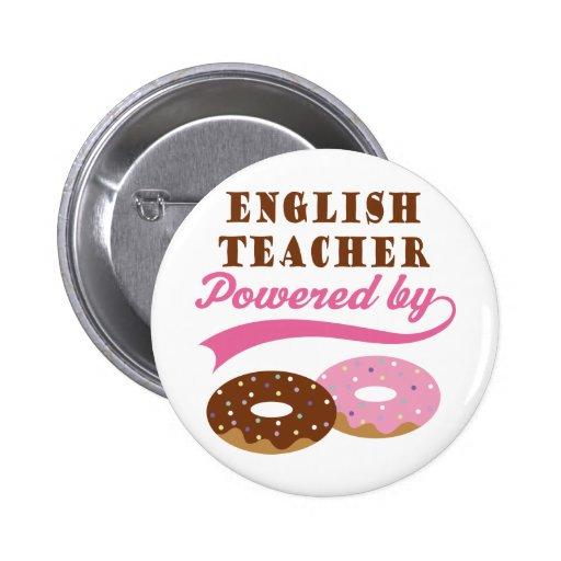 Regalo del profesor de inglés (anillos de espuma) pin