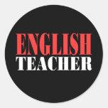 Regalo del profesor de inglés pegatina redonda
