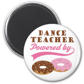 Regalo del profesor de la danza (anillos de espuma imán redondo 5 cm