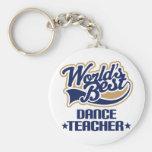 Regalo del profesor de la danza llavero personalizado