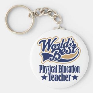 Regalo del profesor de la educación física para (m llavero redondo tipo pin