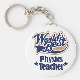 Regalo del profesor de la física para (mundos mejo llavero redondo tipo pin