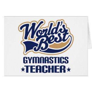 Regalo del profesor de la gimnasia tarjeta de felicitación