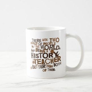 Regalo del profesor de la historia taza básica blanca