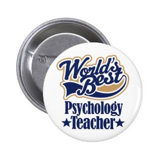 Regalo del profesor de la psicología para pin redondo 5 cm