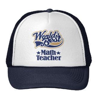 Regalo del profesor de matemáticas para (mundos me gorros bordados