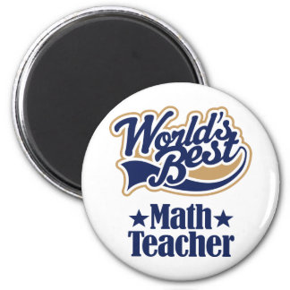 Regalo del profesor de matemáticas para mundos me imán de frigorifico