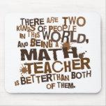 Regalo del profesor de matemáticas tapetes de ratones