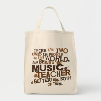 Regalo del profesor de música bolsas lienzo