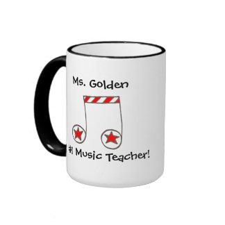 Regalo del profesor de música de la nota musical d taza de café