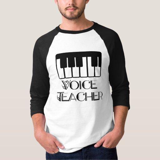 Regalo del profesor de música de la voz remeras