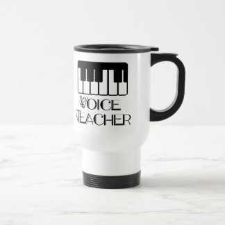 Regalo del profesor de música de la voz taza de viaje de acero inoxidable
