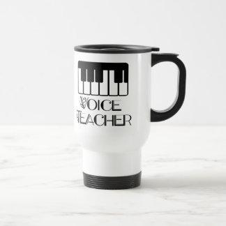 Regalo del profesor de música de la voz taza de viaje