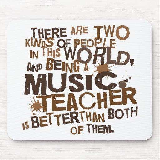Regalo del profesor de música mouse pad