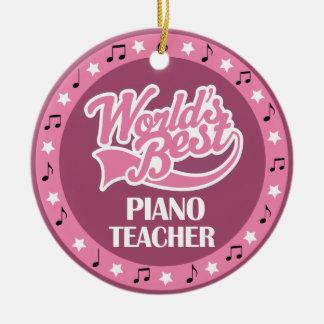Regalo del profesor de piano para ella ornamento para arbol de navidad