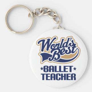 Regalo del profesor del ballet llavero redondo tipo pin