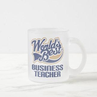 Regalo del profesor del negocio (mundos mejores) taza de cristal