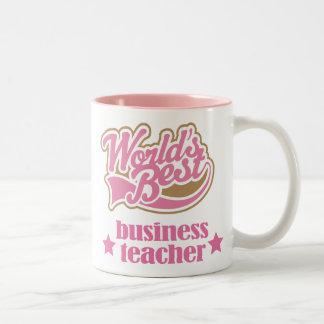 Regalo del profesor del negocio (mundos mejores) taza de dos tonos