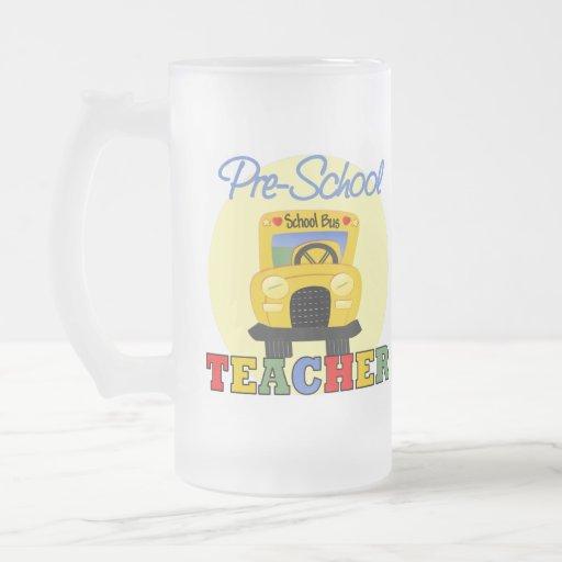 Regalo del profesor del preescolar jarra de cerveza esmerilada