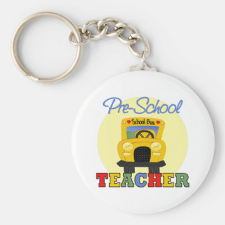 Regalo del profesor del preescolar llavero redondo tipo pin