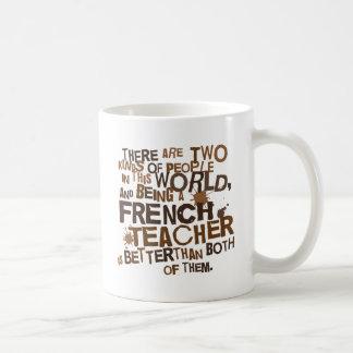 Regalo del profesor francés tazas de café