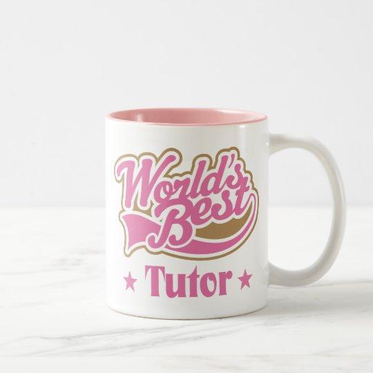 Regalo del profesor particular taza de café de dos colores